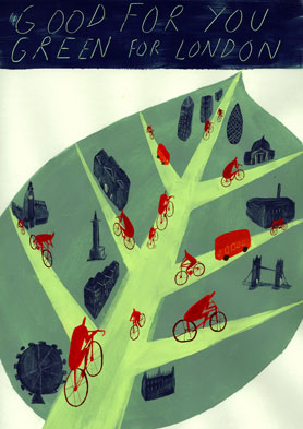 Interview: London Transport Museum's cycling illustration exhibition winner