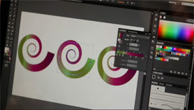 Adobe Illustrator CS6 can apply gradients to strokes