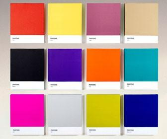 Show your love for print by putting a giant Pantone swatch on your wall