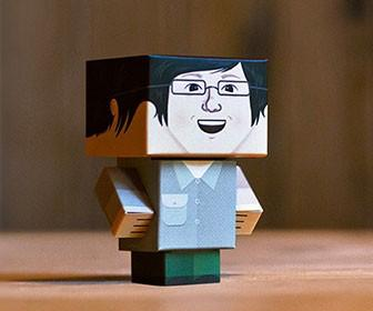 Create yourself as a foldable cardboard character