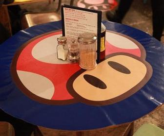 Camille Walala turns London café into a Paper Mario-themed diner for Nintendo