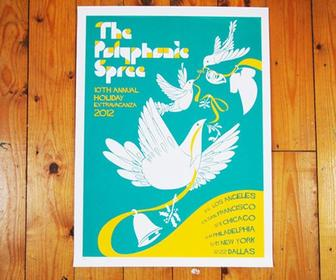 Ben The Illustrator gets festive for The Polyphonic Spree