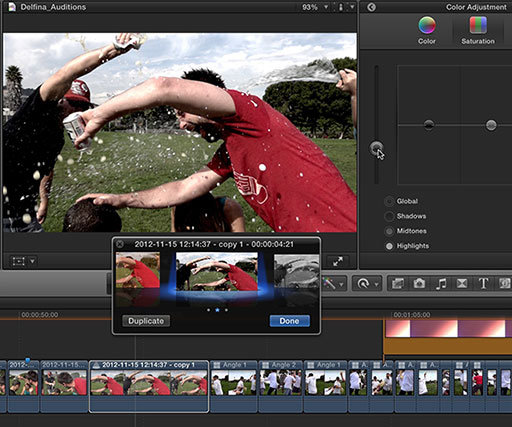 How to use auditions in Final Cut Pro X
