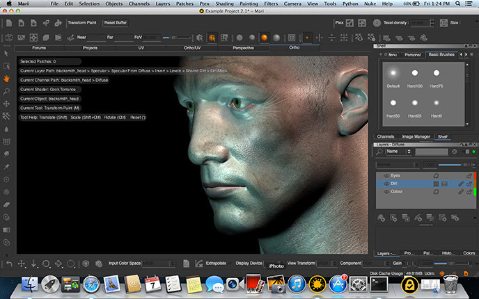 Mac Version Of The Foundry 39 S 3d Painting Tool Mari