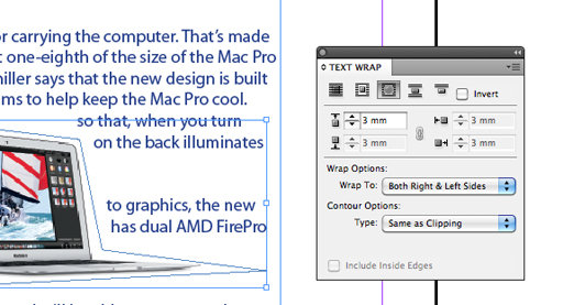 How to wrap text around an image in InDesign