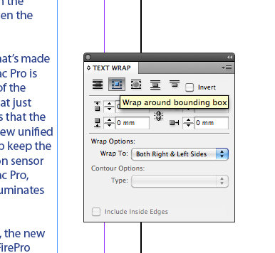 Wrap text around an image in InDesign