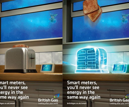 British Gas launches lenticular poster campaign