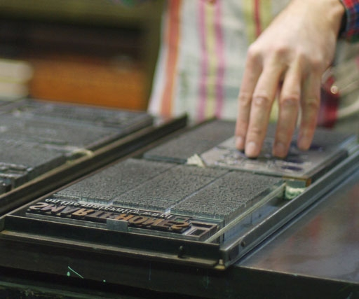 Letterpress printed, handcrafted The Luddite magazine questions our relationship with technology