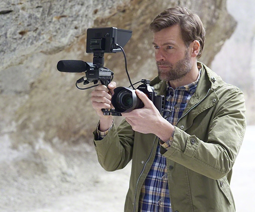 Sony Alpha 7S camera can capture 4K video