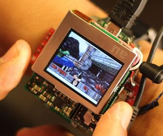 Controlled by twisting, this smartwatch lets you play Doom