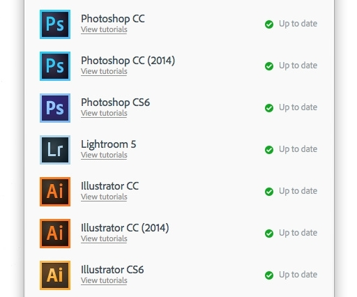Confused as to why you have CC and CC 2014 versions of Photoshop, Illustrator, etc?