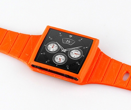 How to make an 'Apple iWatch' using an iPod nano and a 3D printer