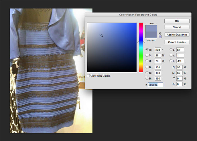 Black and blue dress real colors