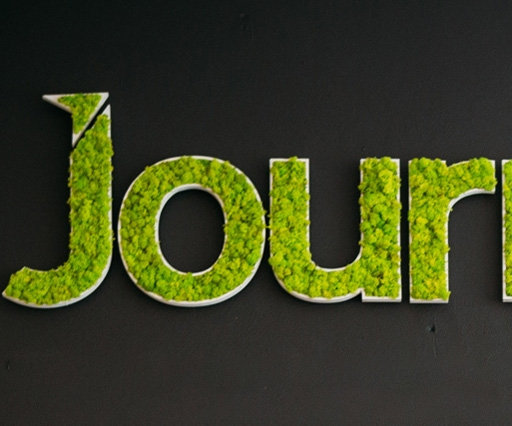Digital agency Journey has a living lichen logo
