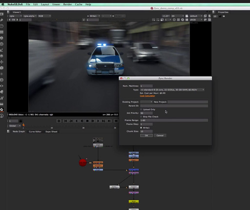 Get $800 of free online Nuke and VRay rendering from Google Zync
