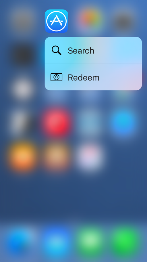 app store quick actions