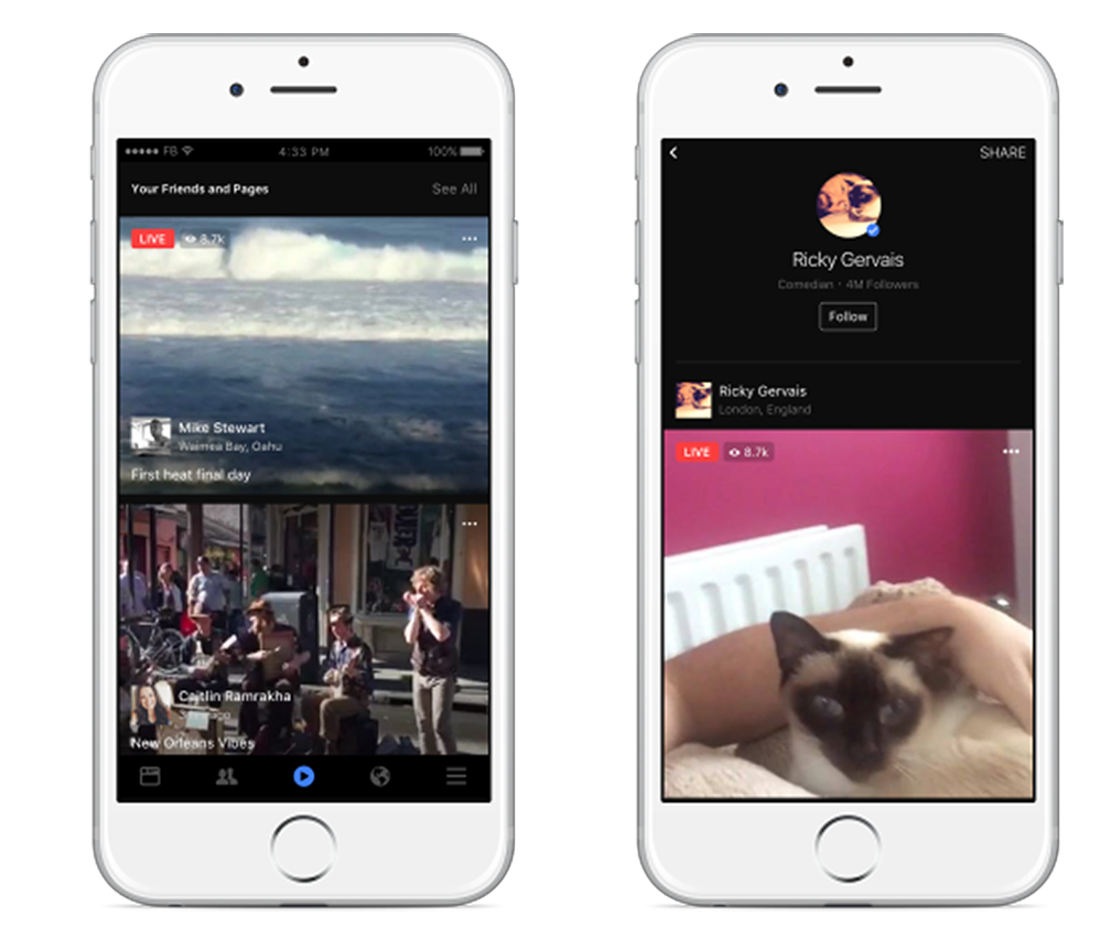 Facebook levels up its live streaming service with new video tab and developer tools