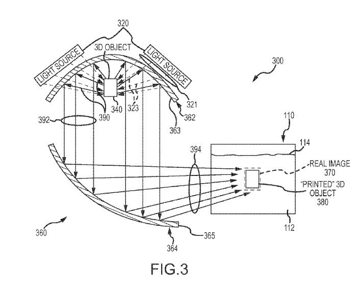Disney files patent for near-instantaneous 3D printing