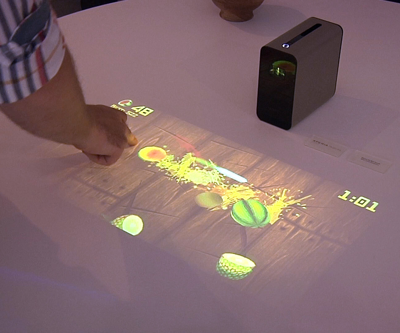 Odd prototypes from Sony: a touchscreen projector, earphones with gestural controls and more
