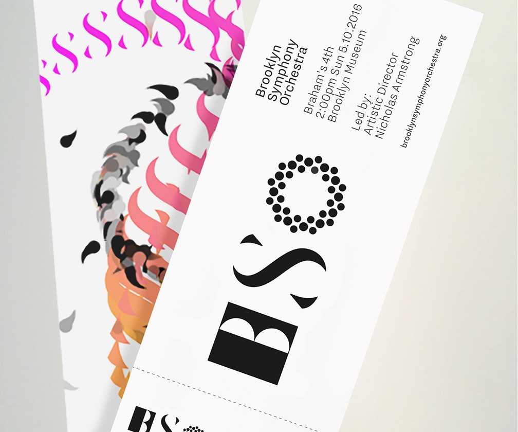 The Partners' abstract redesign of the Brooklyn Symphony Orchestra brand