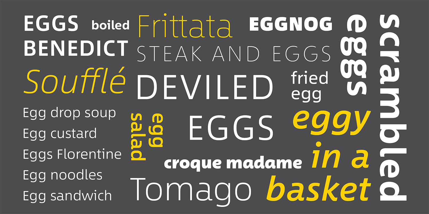 Monotype's Between font is legible, warm & modern (with 3 different