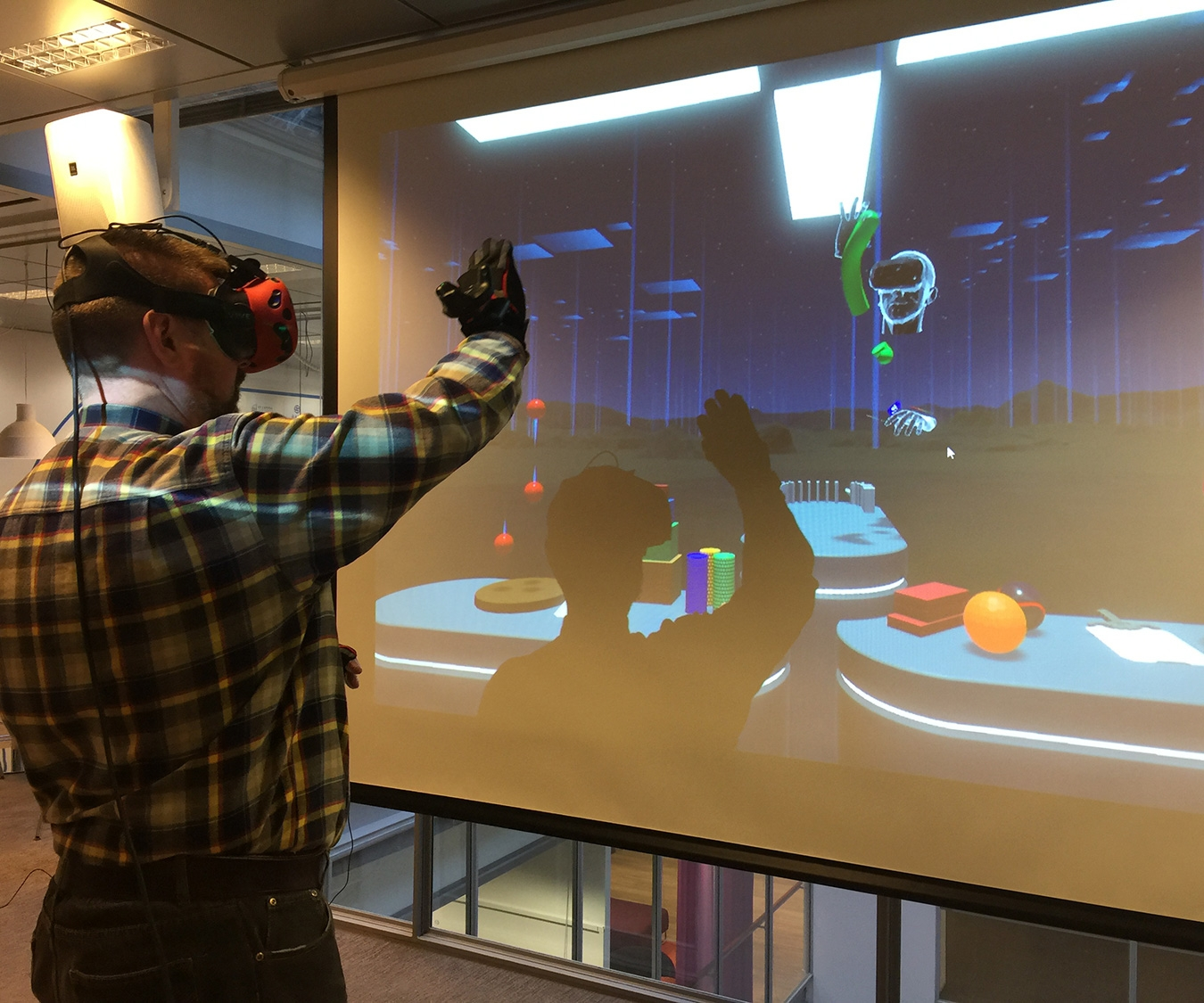 These awesome motion-capture gloves let you play with objects in VR