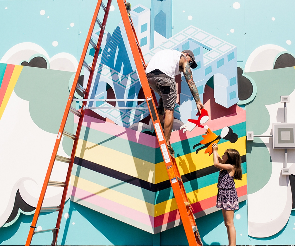 How artist Alex Yanes worked with his daughter on this bright 3D mural for Monument Valley 2