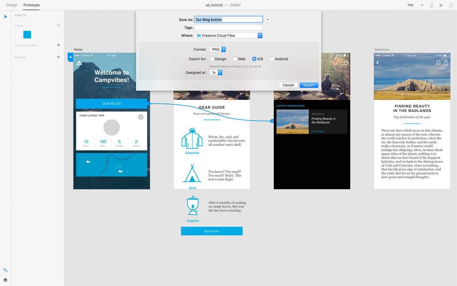 How to use Adobe XD - Tutorials - Digital Arts