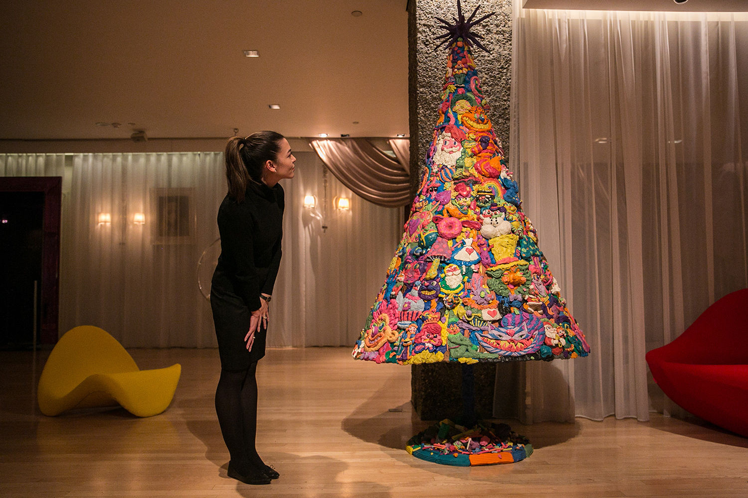 This Truly Bizarre Christmas Tree Is Entirely Made Out Of