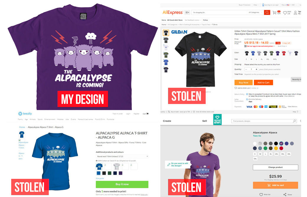 Artwork T Shirt Designs | What To Do If Your Designs Or Artwork Have Been Stolen Features