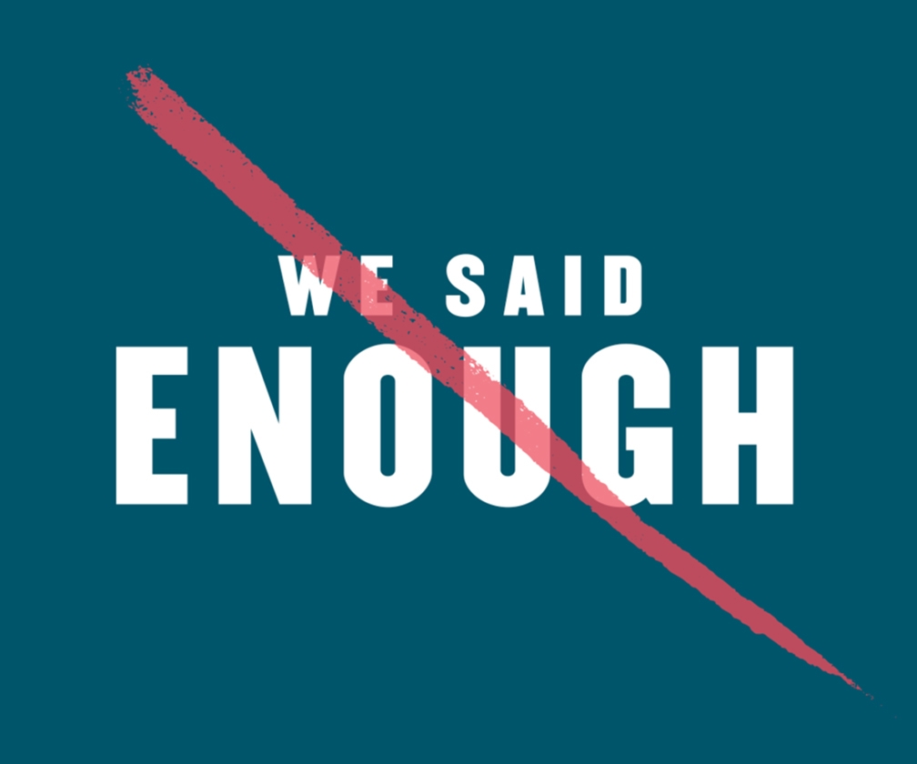 Creative studio Omnibus' brand identity for We Said Enough fights back against sexual misconduct