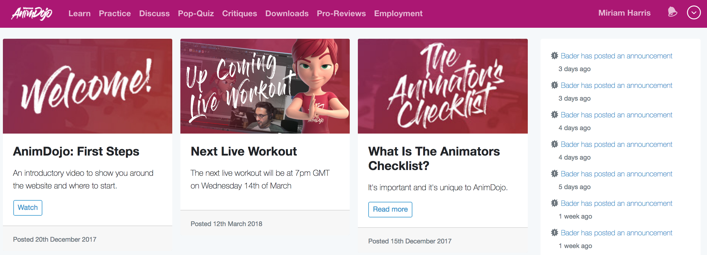 Best websites and online tools for learning animation
