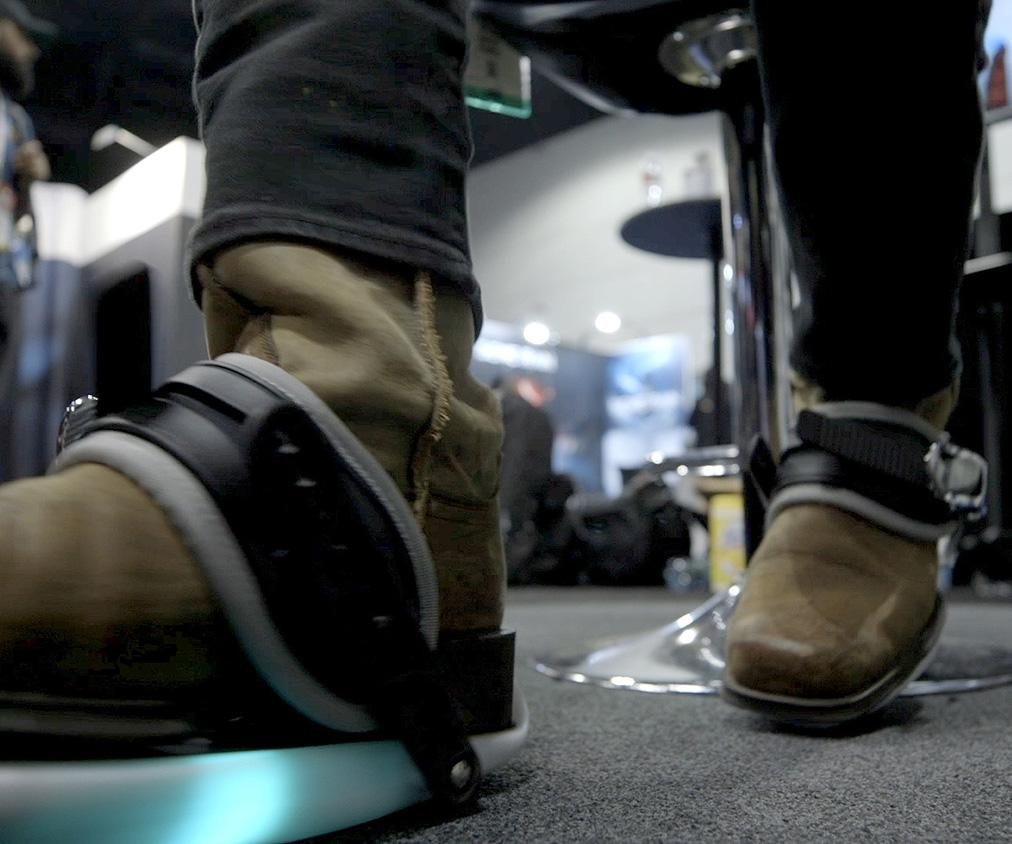 Cybershoes let you physically run through VR from the comfort of your chair