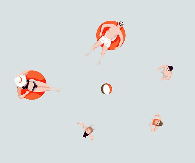 The hazy side to summer is captured in a beautifully serene series from illustrator Cami