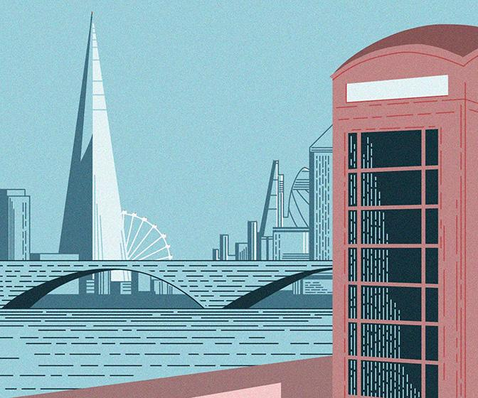 Cities come to life in these sparkling app-based drawings from James Merritt