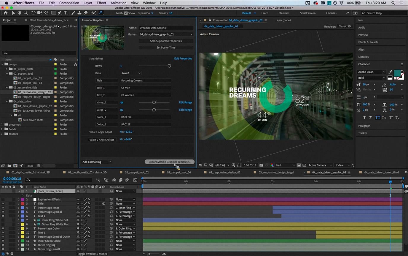 After Effects, Premiere Pro and Character Animator 'CC 2019