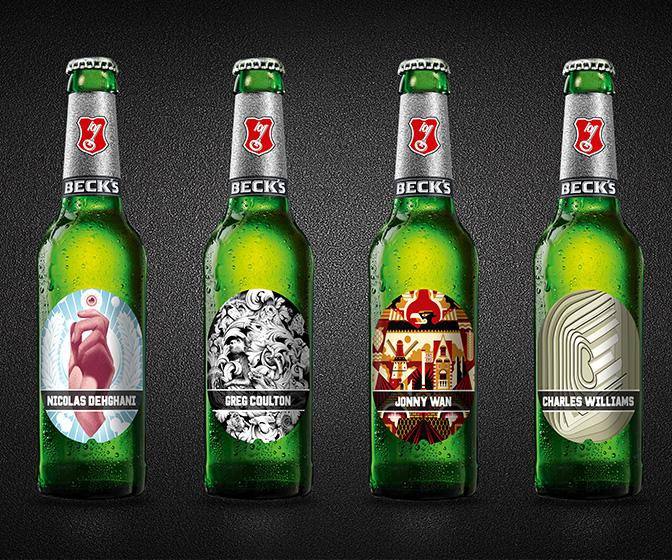 Artists make their mark on Beck's with new beer label designs