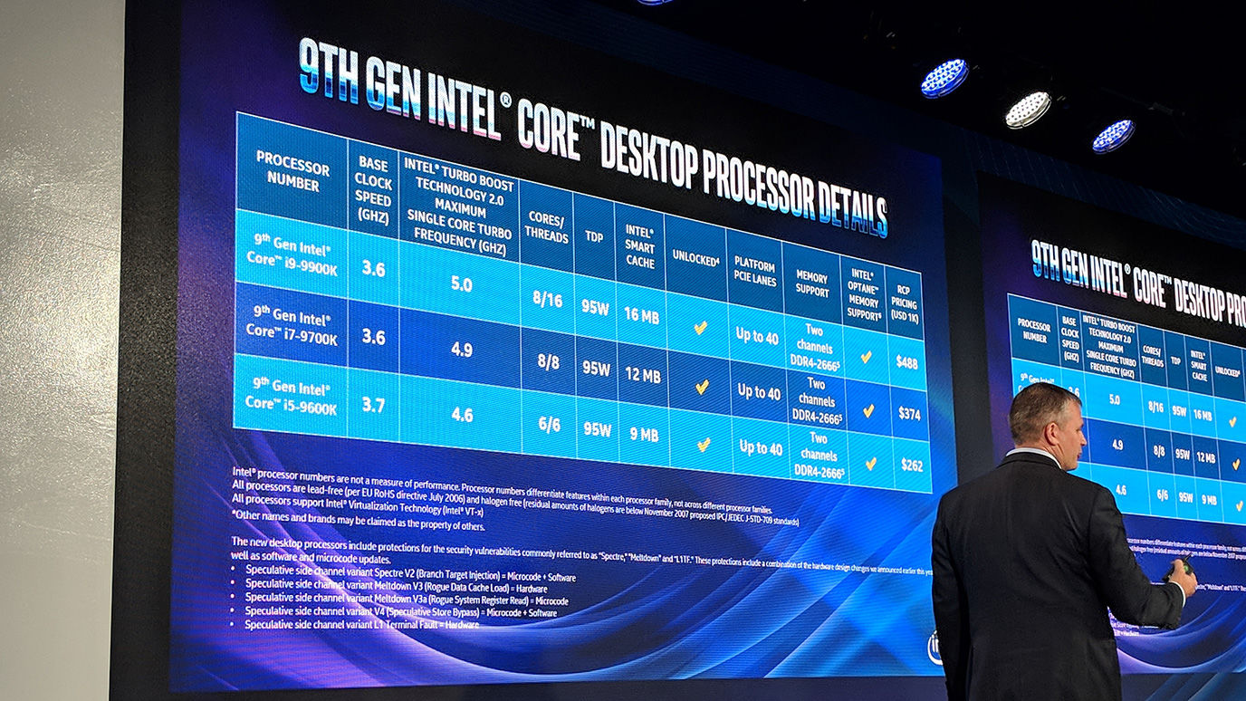 Intel debuts 9th-generation Core chips, targeting creatives