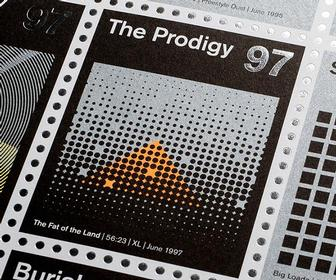 Big and unsung heroes of alternative music are honoured in stylish stamps and prints