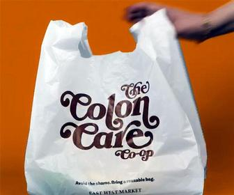 Logo Landfill: These retro shopping bags help to shame customers into saving the planet