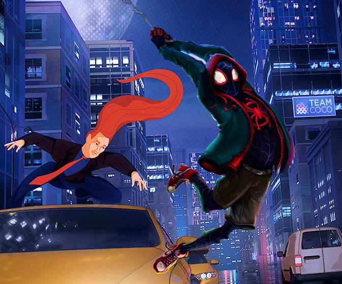 Spider-Spoof! How animators helped Conan O'Brien Enter the Spider-Verse
