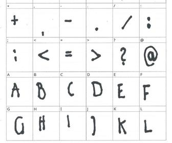 Kristina Bold is a font based on a stroke survivor's handwriting
