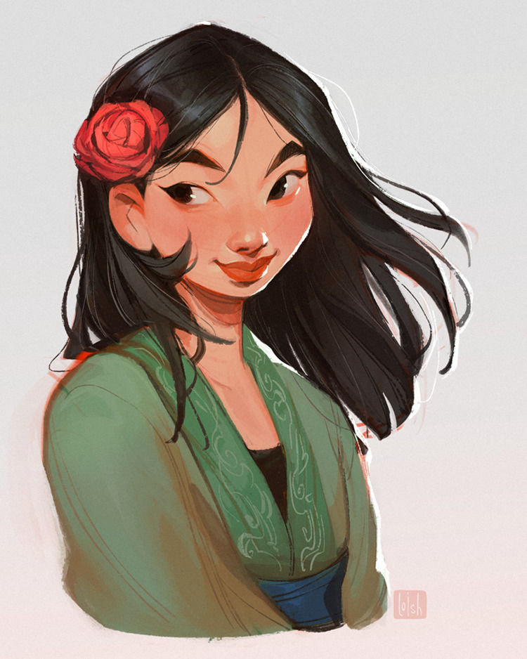 Loish And The Influence Of Little Mermaid On Her Female Character Designs Features Digital Arts