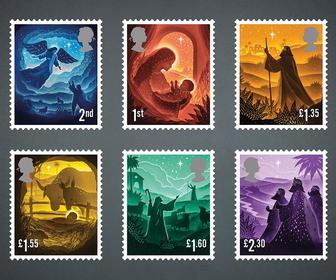 The Royal Mail's 2019 Christmas stamps feature papercut nativity scenes