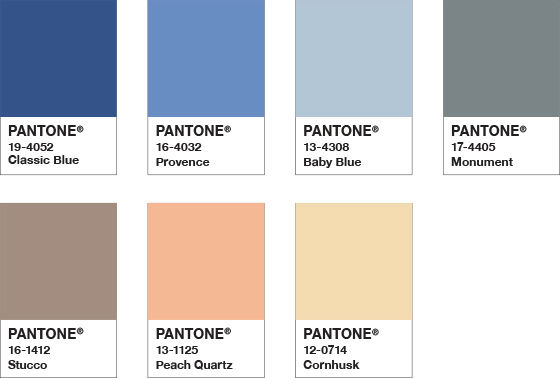pantone color of the year 2020 palette ponder
