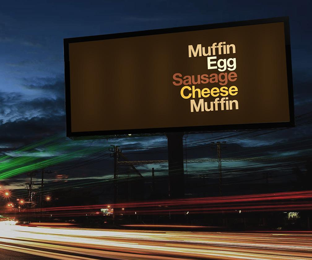 These ads make you think of McDonald's with just 5 words and 5 colours