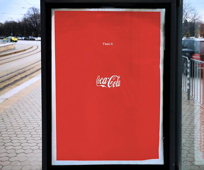 Can you see the bottle in this Coke ad?