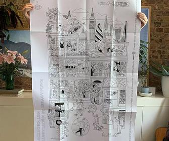 Colour in London with this Londoner-sized illustration