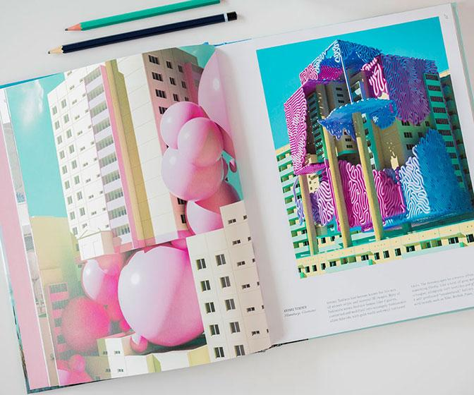 Vaporwave art makes the coffee table book of your dreams