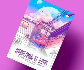 Colour in Japan with this daydream of a book